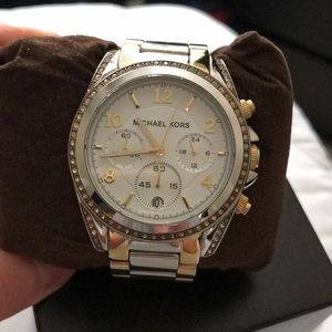 Michael Michael Kors two tone ladies watch